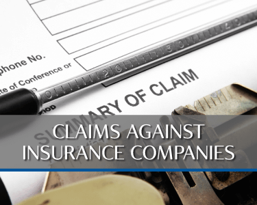 Claims Against Insurance Companies Picture is a link to Practice area for Attorneys Heiling, Dwyer, Fernandes