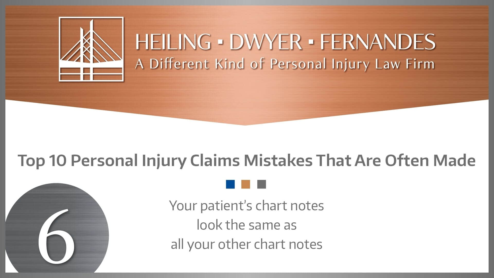 #6 MISTAKE: Your patient's chart notes look the same as all your other chart notes