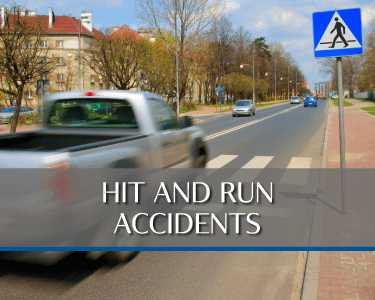 Hit and Run Accident Picture is a link to Practice area for Attorneys Heiling, Dwyer, Fernandes