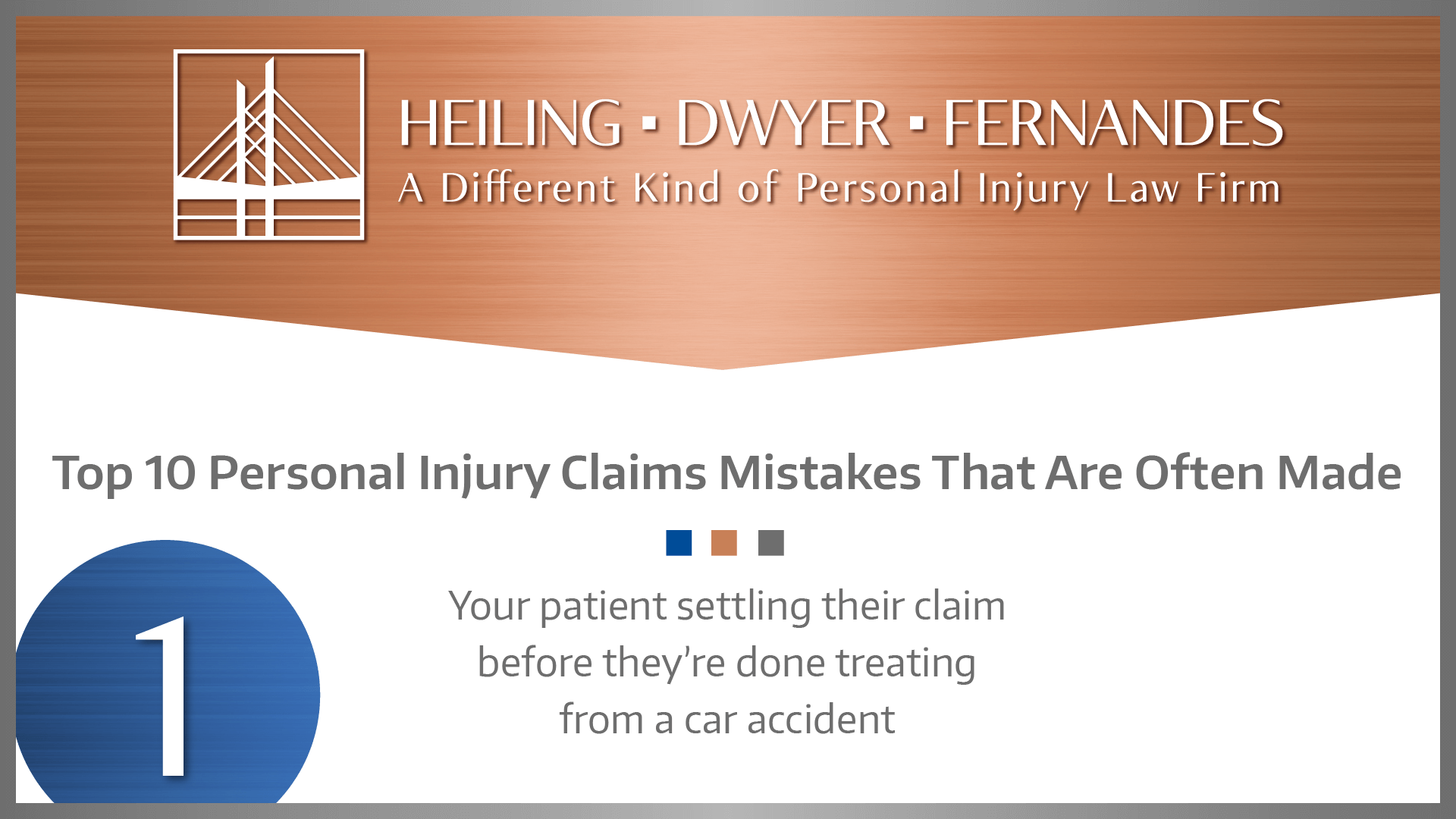 #1 MISTAKE: Your patient settling their claim before they're done treating from a car accident