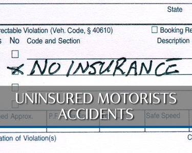 Uninsured Motorist Accident Picture is a link to Practice area for Attorneys Heiling, Dwyer, Fernandes