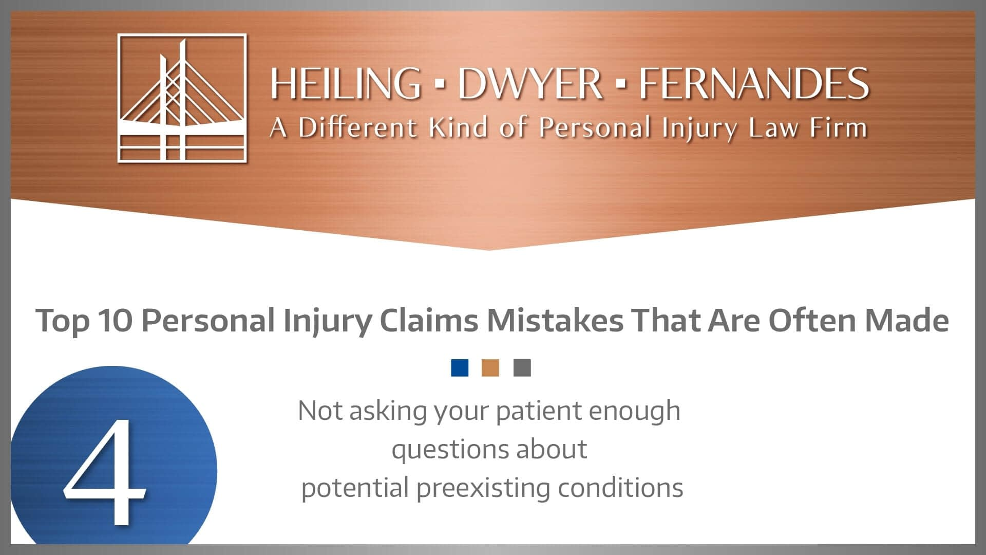#4 MISTAKE: Not asking your patient enough questions about potential preexisting conditions