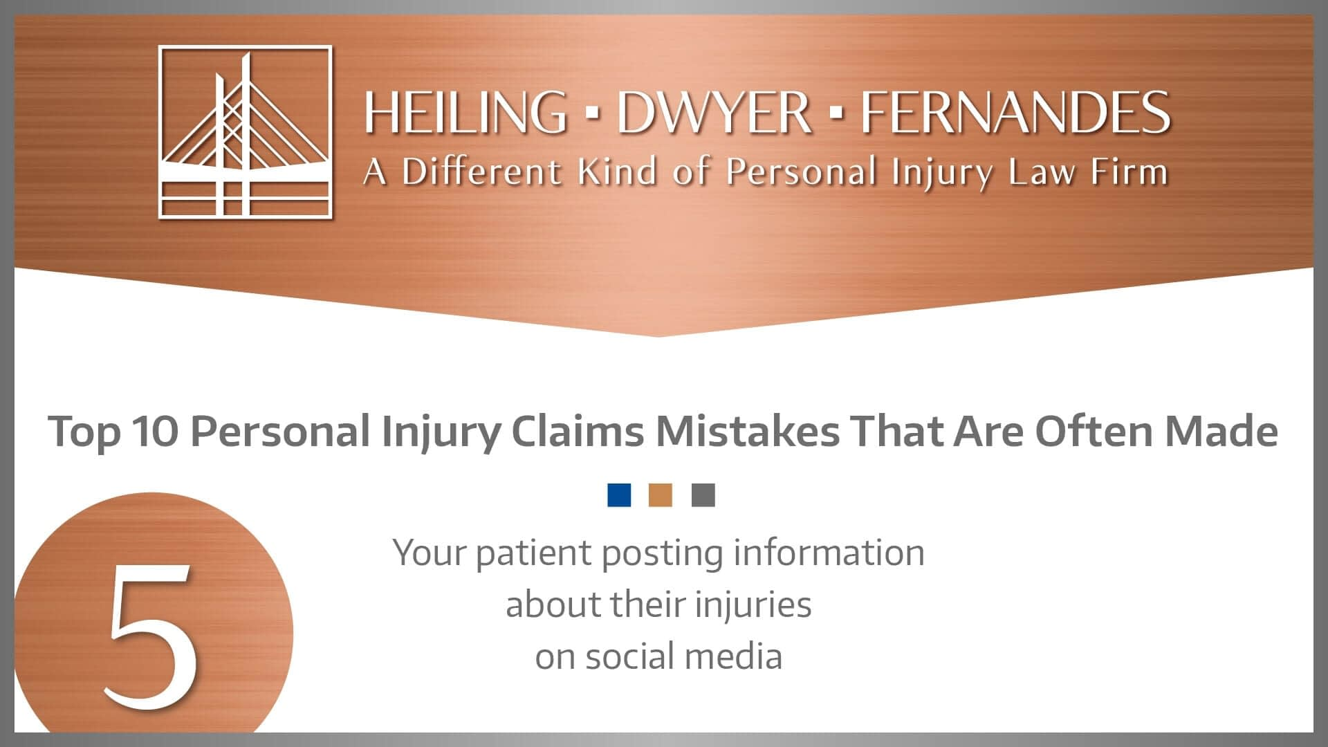 #5 MISTAKE: Your patient posting information about their injuries on social media