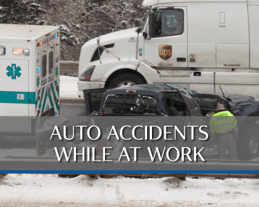 Workplace Auto Accident Picture is a link to Practice area for Attorneys Heiling, Dwyer, Fernandes